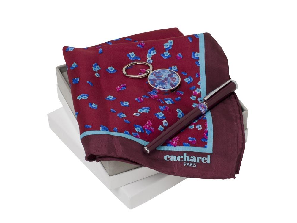 Подарочный набор Blossom: брелок с USB-флешкой на 16 Гб, шелковый платок, ручка-роллер. Cacharel