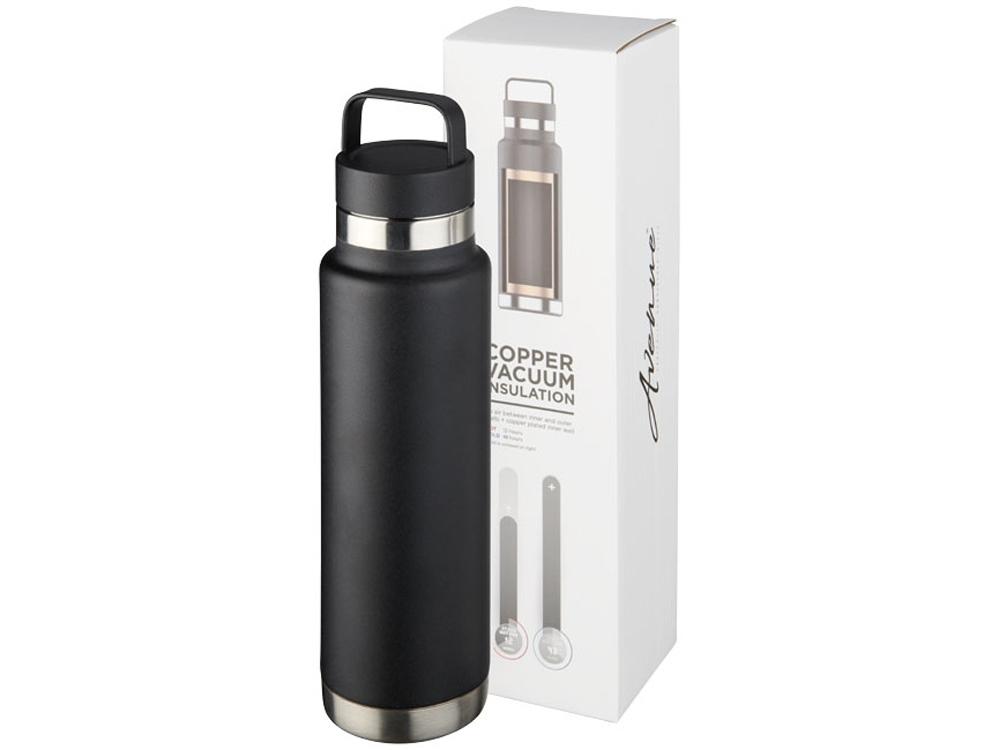 Медная спортивная бутылка с вакуумной изоляцией Colton объемом 600мл, черный