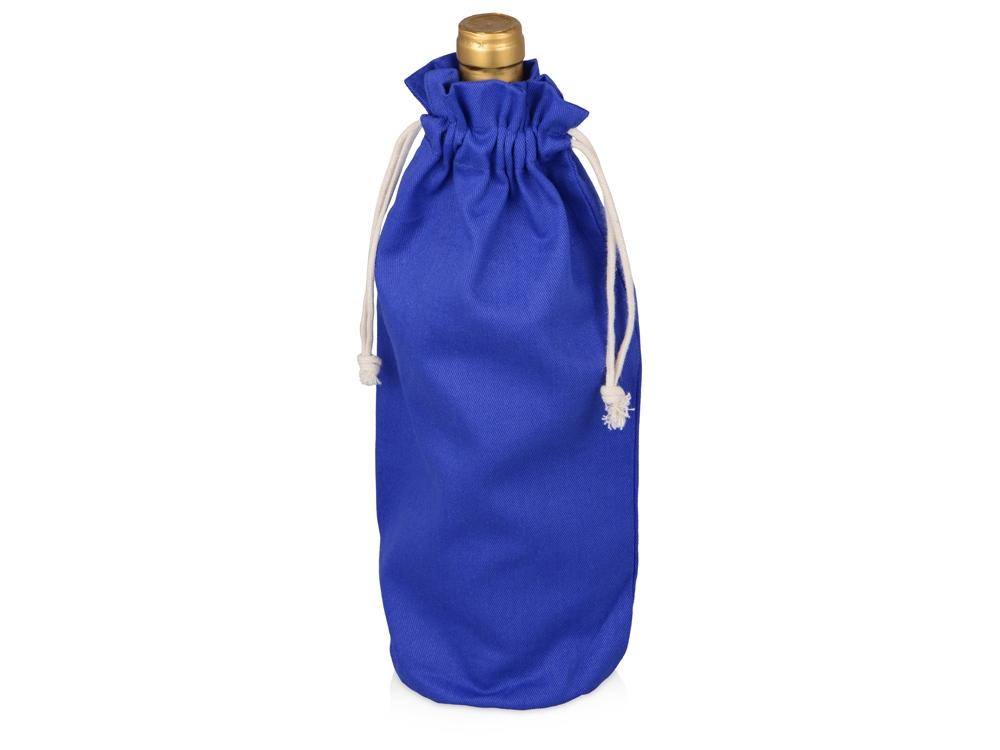 Хлопковая сумка для вина, синий