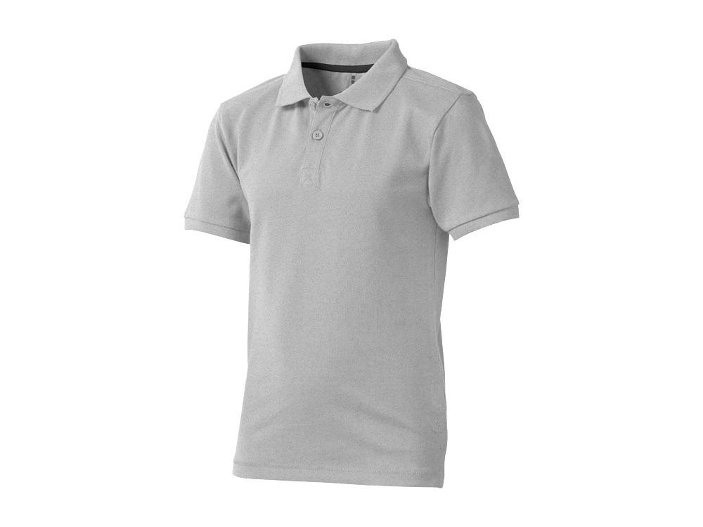 Рубашка поло Calgary детская, серый меланж