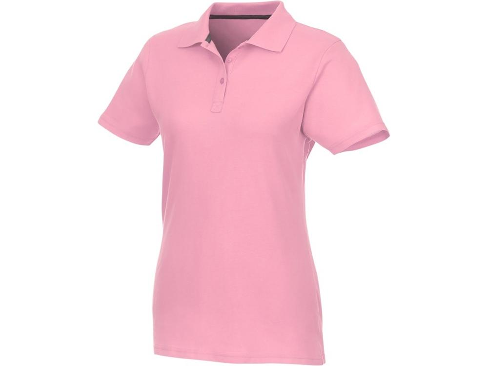 Женское поло Helios с коротким рукавом, light pink