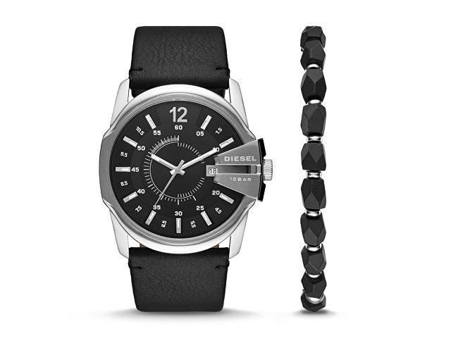Подарочный набор: часы наручные мужские, браслет (арт. 29672)