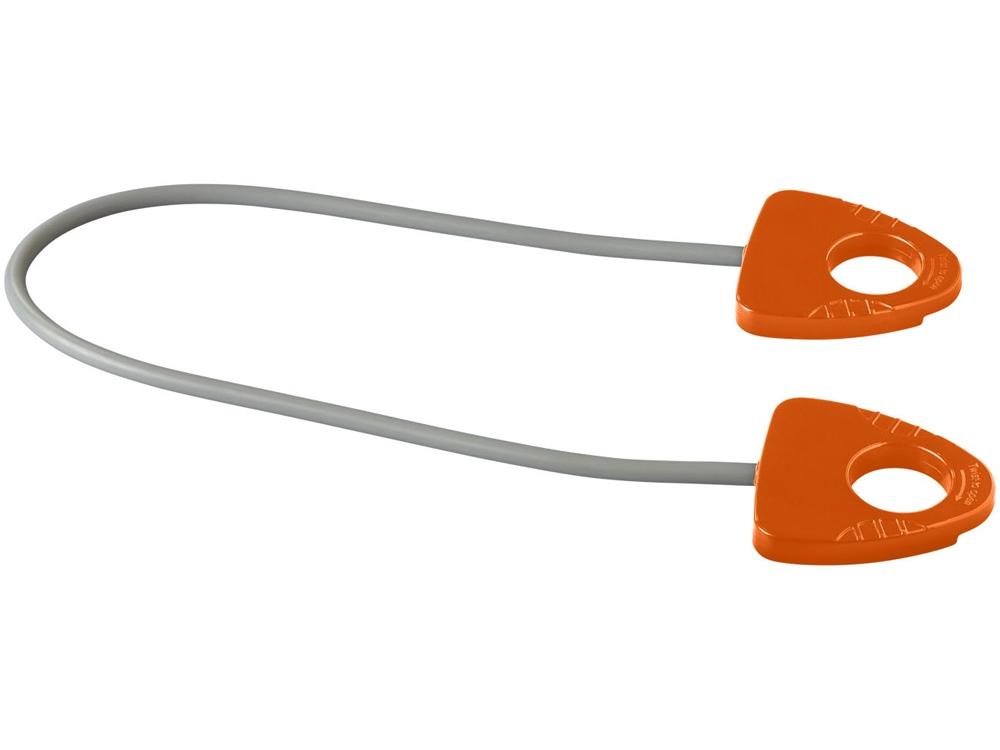 Резинка для занятий йогой Dolphin с ручкой, оранжевый