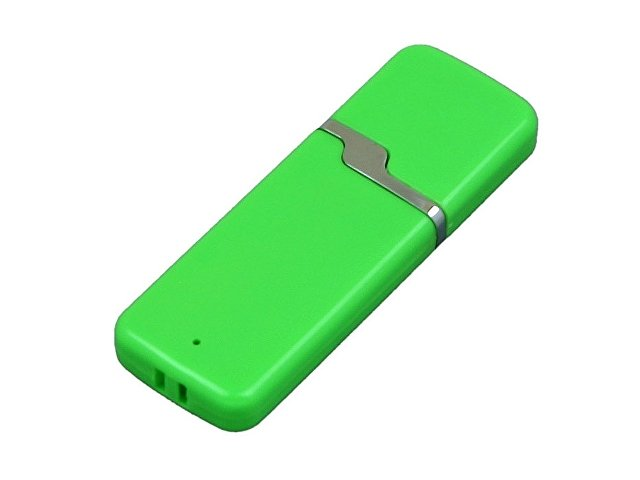 Флешка промо прямоугольной формы c оригинальным колпачком, 32 Гб, зеленый