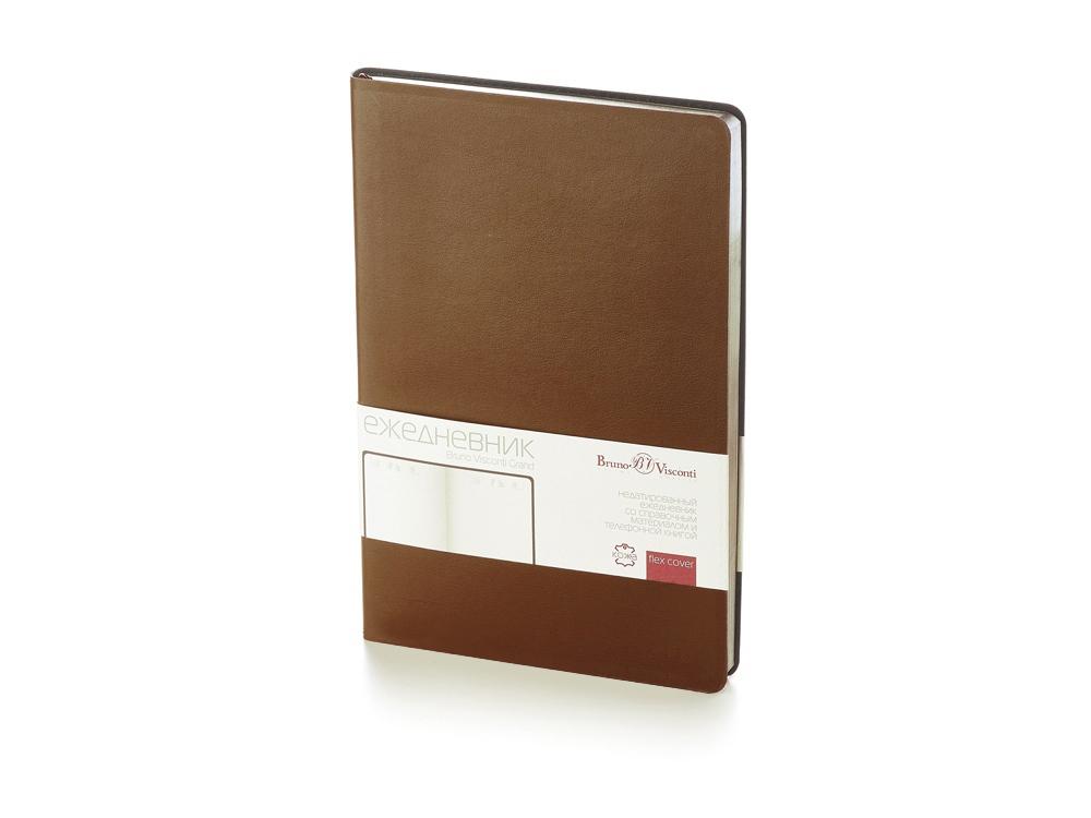 Ежедневник недатированный  А5 Grand коричневый