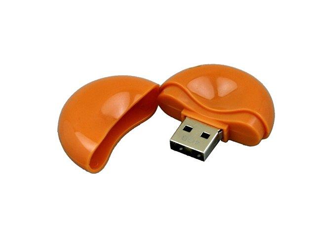 Флешка промо круглой формы, 32 Гб, оранжевый
