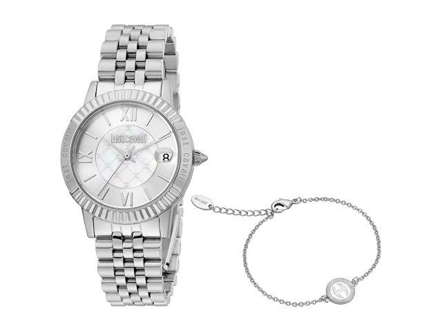 Подарочный набор: часы наручные женские, браслет (арт. 60017)