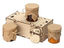 Подарочный набор с ассорти варенья и новогодним украшением «Trio Sweet» (арт. 700414NY)