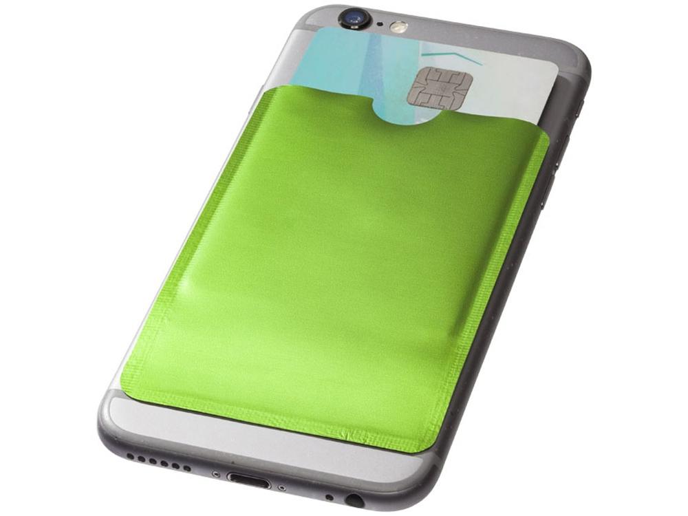 Бумажник для карт с RFID-чипом для смартфона, лайм