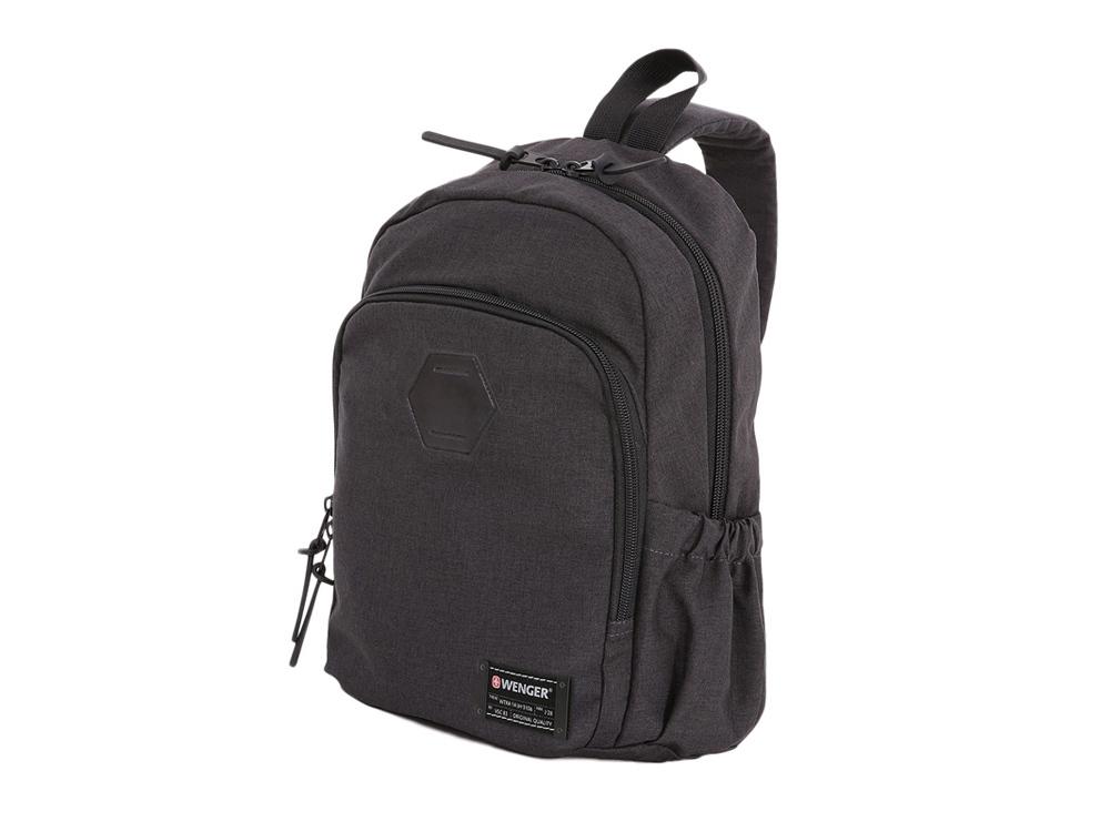 Рюкзак с одним плечевым ремнем 12л с отделением для ноутбука 13. Wenger, серый