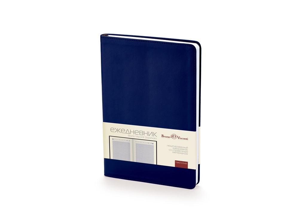 Ежедневник недатированный А5 Stockholm, темно-синий