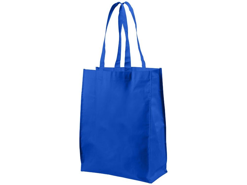 Ламинированная сумка для покупок среднего размера, ярко-синий