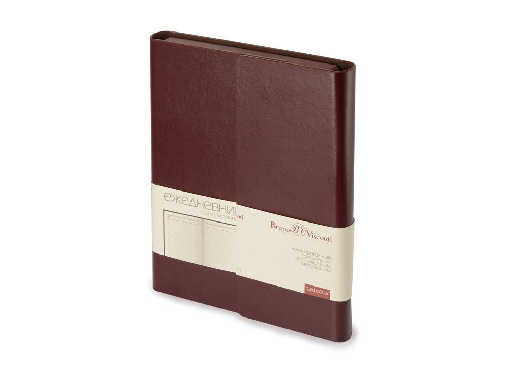 Ежедневник недатированный с магнитным клапаном, А5 WALTZ, коричневый
