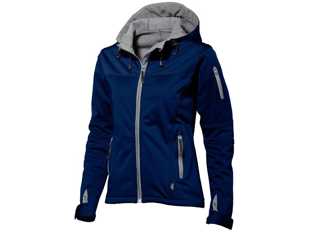 Куртка софтшел Match женская, темно-синий/серый