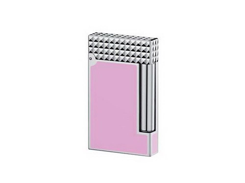 Зажигалка LigneD. S.T.Dupont, розовый/серебристый