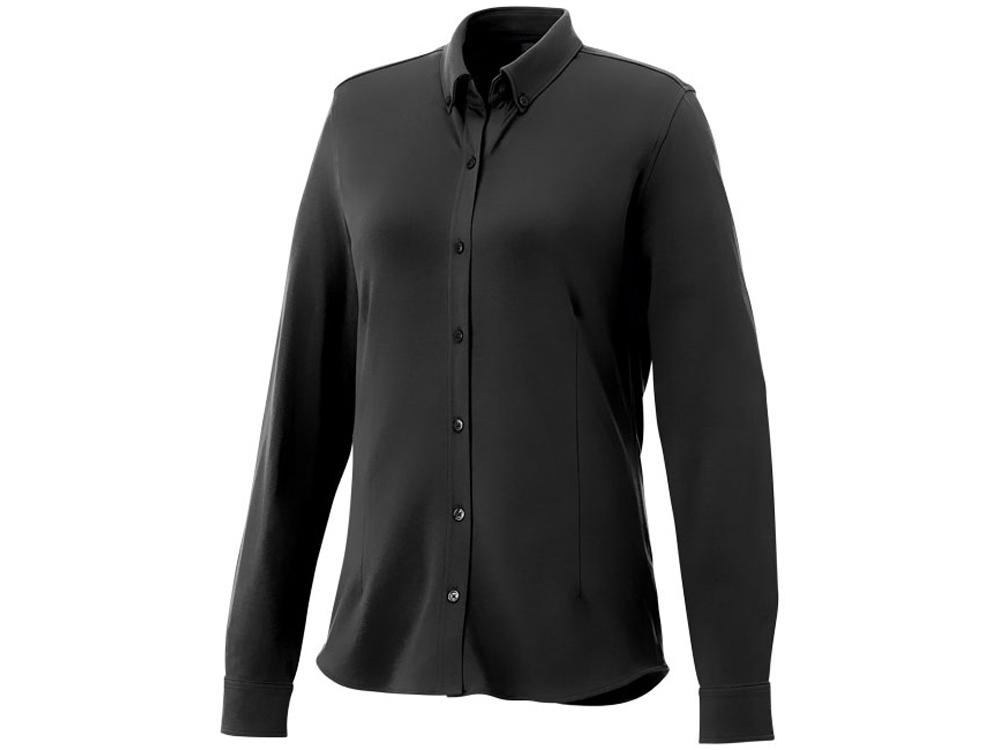 Женская рубашка Bigelow из пике с длинным рукавом, черный