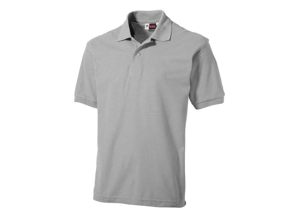 Рубашка поло Boston мужская, пепельно-серый