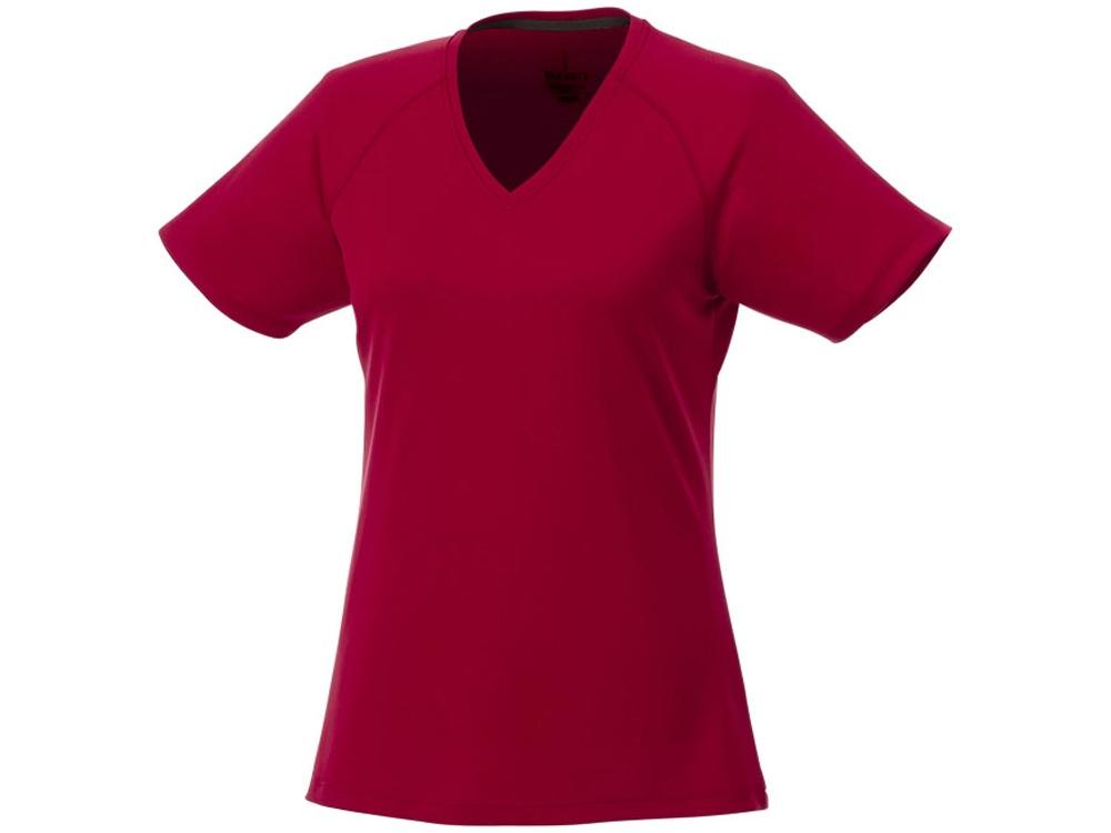 Модная женская футболка Amery  с коротким рукавом и V-образным вырезом, красный