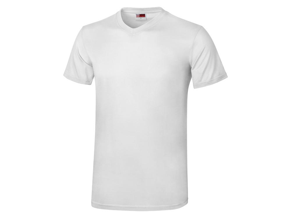 Футболка Heavy Super Club мужская с V-образным вырезом, белый