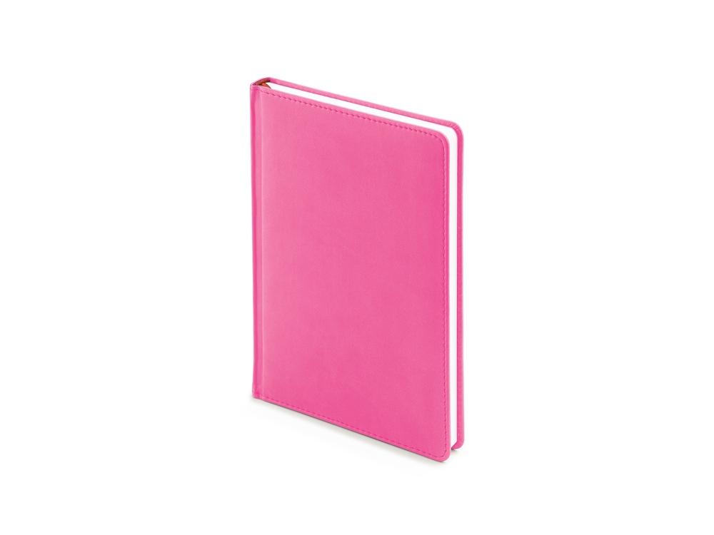 Ежедневник недатированный А5 Velvet, розовый флуор