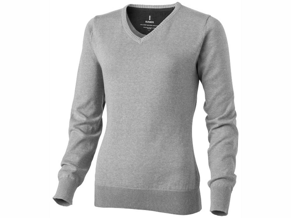 Пуловер Spruce женский с V-образным вырезом, серый меланж