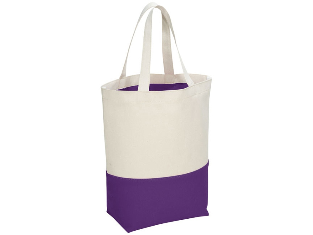 Сумка хлопковая Colour Pop, натуральный/пурпурный