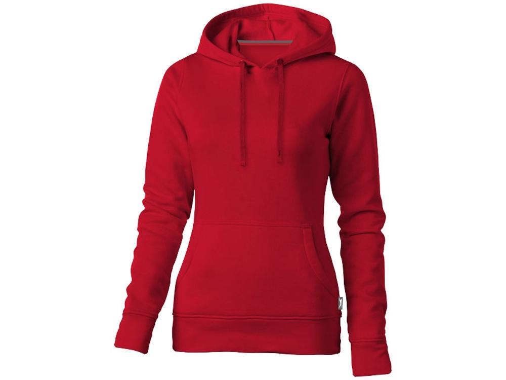 Толстовка Alley женская с капюшоном, красный