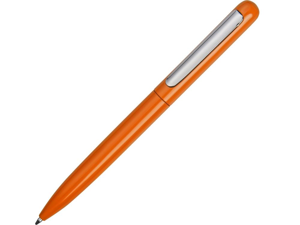 Ручка металлическая шариковая Skate, оранжевый/серебристый