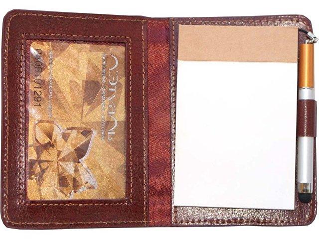 Блокнот для записей с ручкой-стилусом Alessandro Venanzi, коричневый
