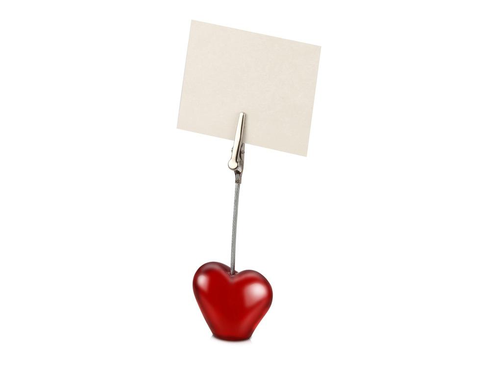 Держатель для документов Сердце, красный
