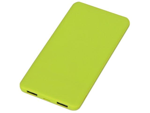 Портативное зарядное устройство «Reserve» с USB Type-C, 5000 mAh, зеленое яблоко
