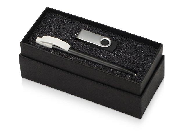 Подарочный набор Uma Memory с ручкой и флешкой, черный
