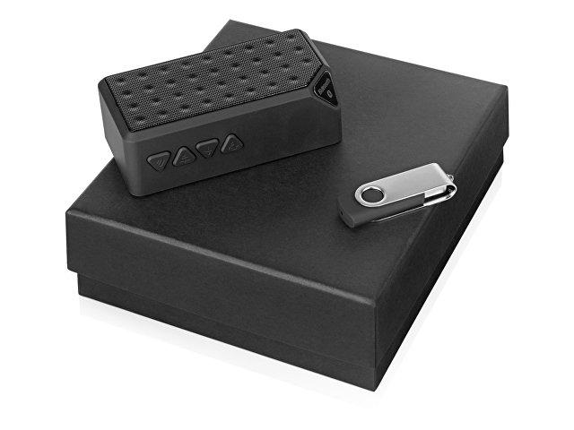 Подарочный набор Move-it с флешкой и портативной колонкой, черный