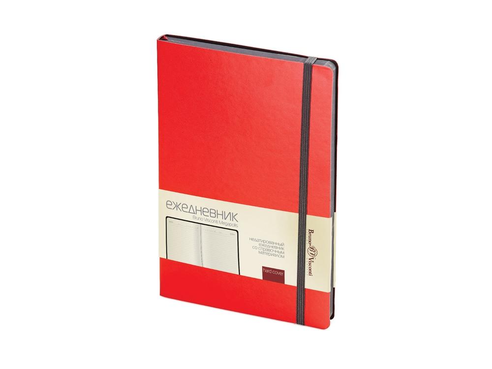 Ежедневник А5 недатированный Megapolis Soft, красный