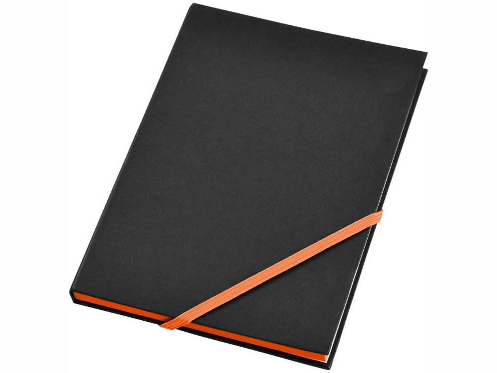 Блокнот А5 Travers, черный/оранжевый