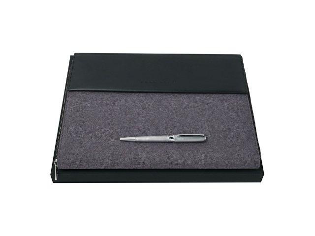 Подарочный набор: ручка шариковая, папка для конференций А4