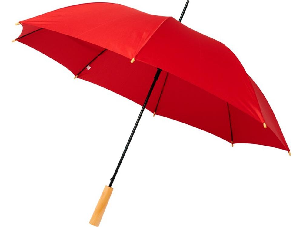 23-дюймовый автоматический зонт Alina из переработанного ПЭТ-пластика, красный
