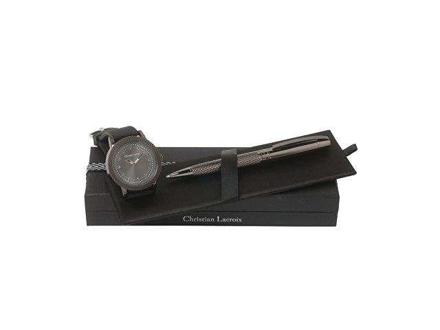 Подарочный набор Capline: часы наручные мужские, ручка шариковая (арт. LPBM561)