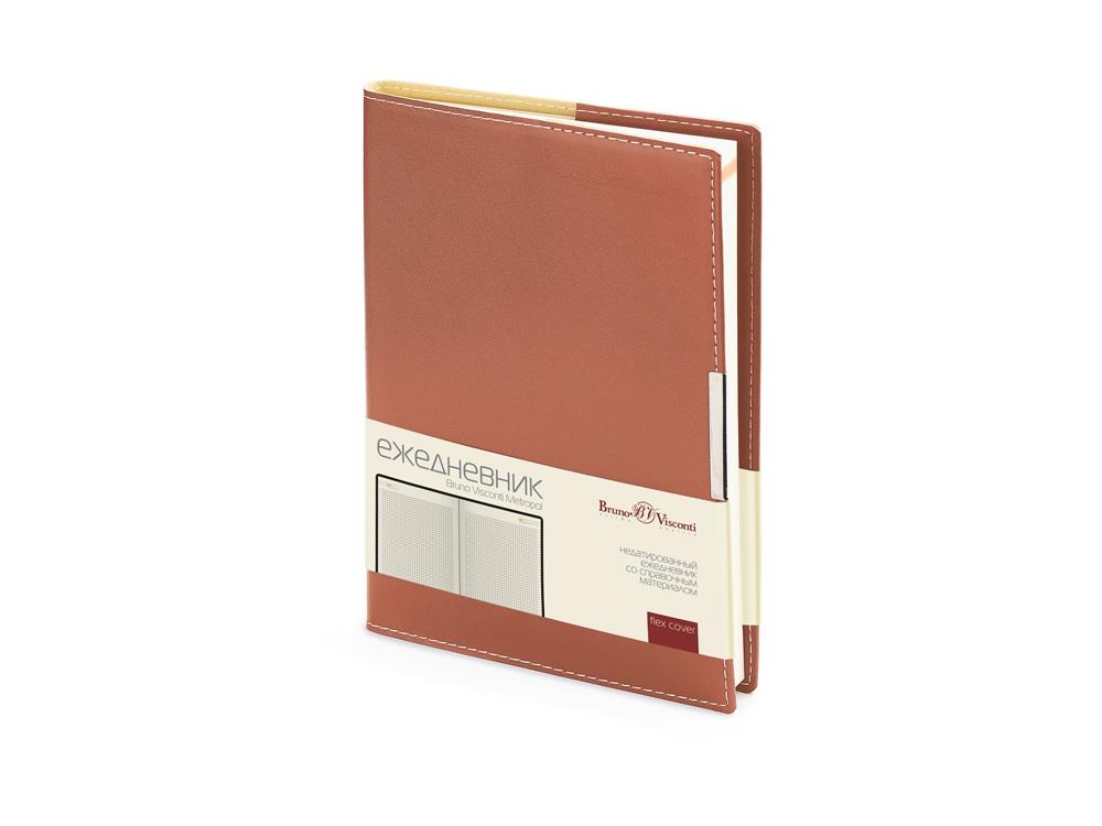 Ежедневник недатированный А5 Metropol, коричневый