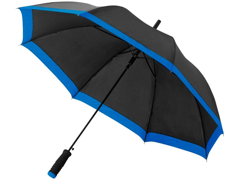 Зонт-трость Kris 23 полуавтомат, черный/синий