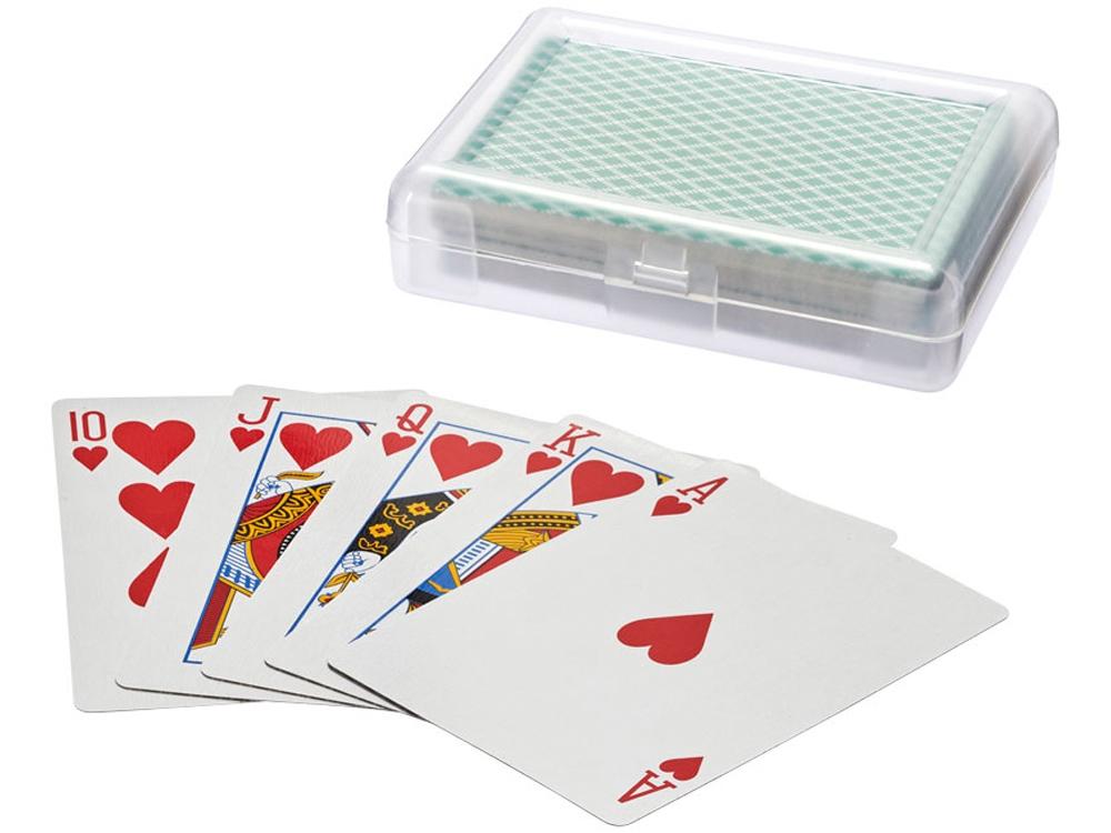 Карточная игра Reno в чехле, прозрачный/зеленый