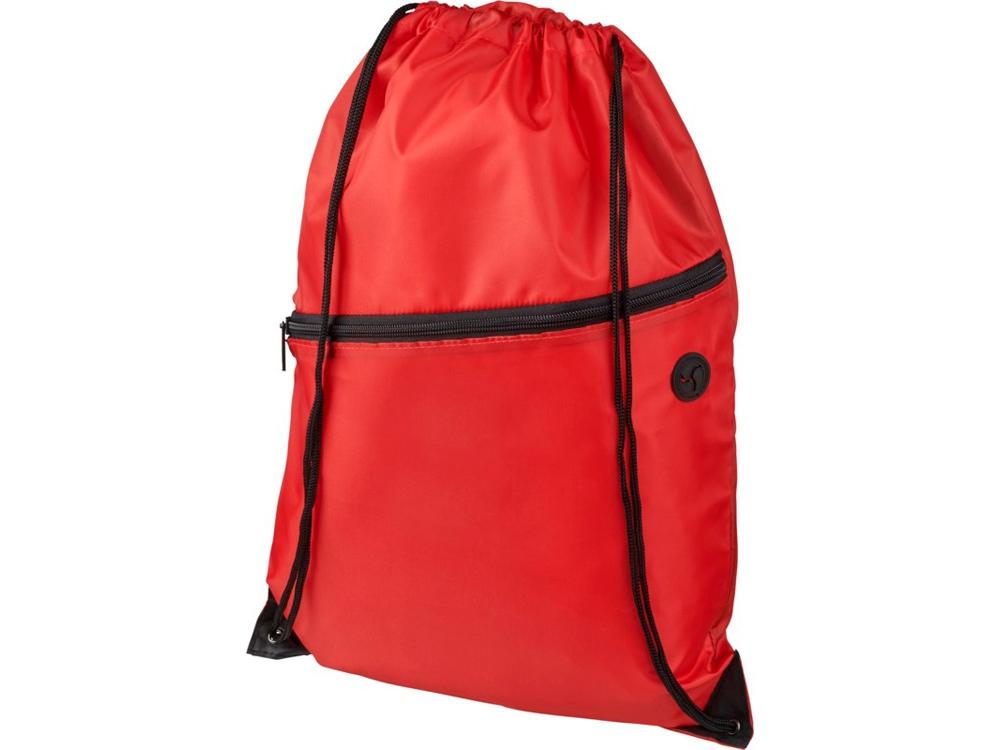 Рюкзак Oriole на молнии со шнурком, красный