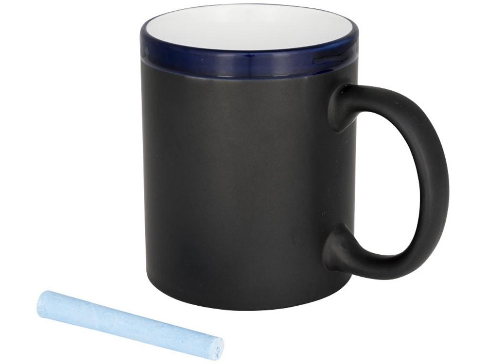 Кружка, на которой можно писать мелом, синий