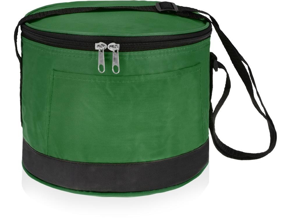 Сумка холодильник круглая на 2,5 л, зеленая