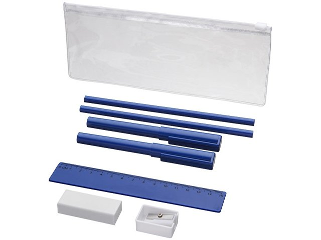 Набор «Mindy»: ручки шариковые, карандаши, линейка, точилка, лас