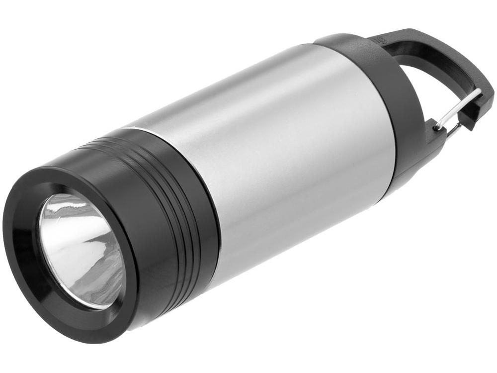 Фонарик Mini Lantern, серебристый/черный