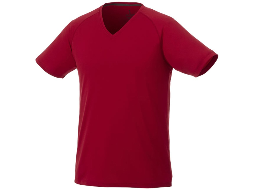 Модная мужская футболка Amery с коротким рукавом и V-образным вырезом, красный