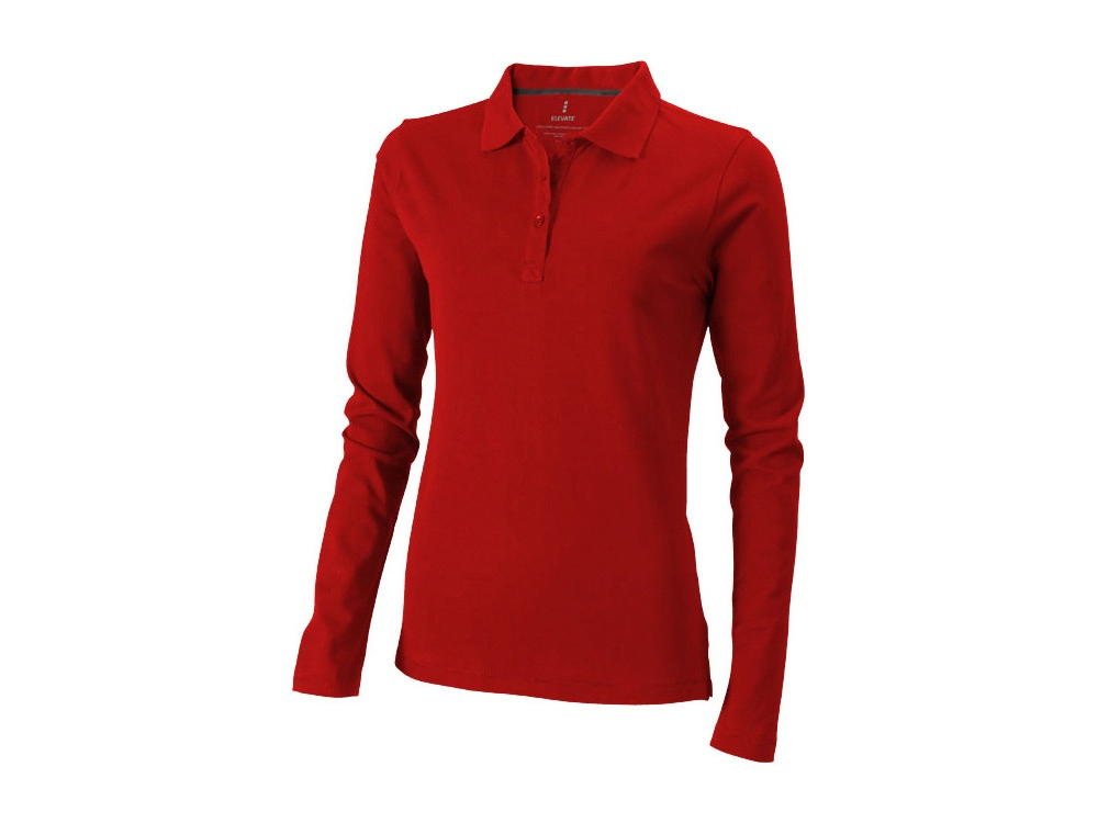 Рубашка поло Oakville женская с длинным рукавом, красный