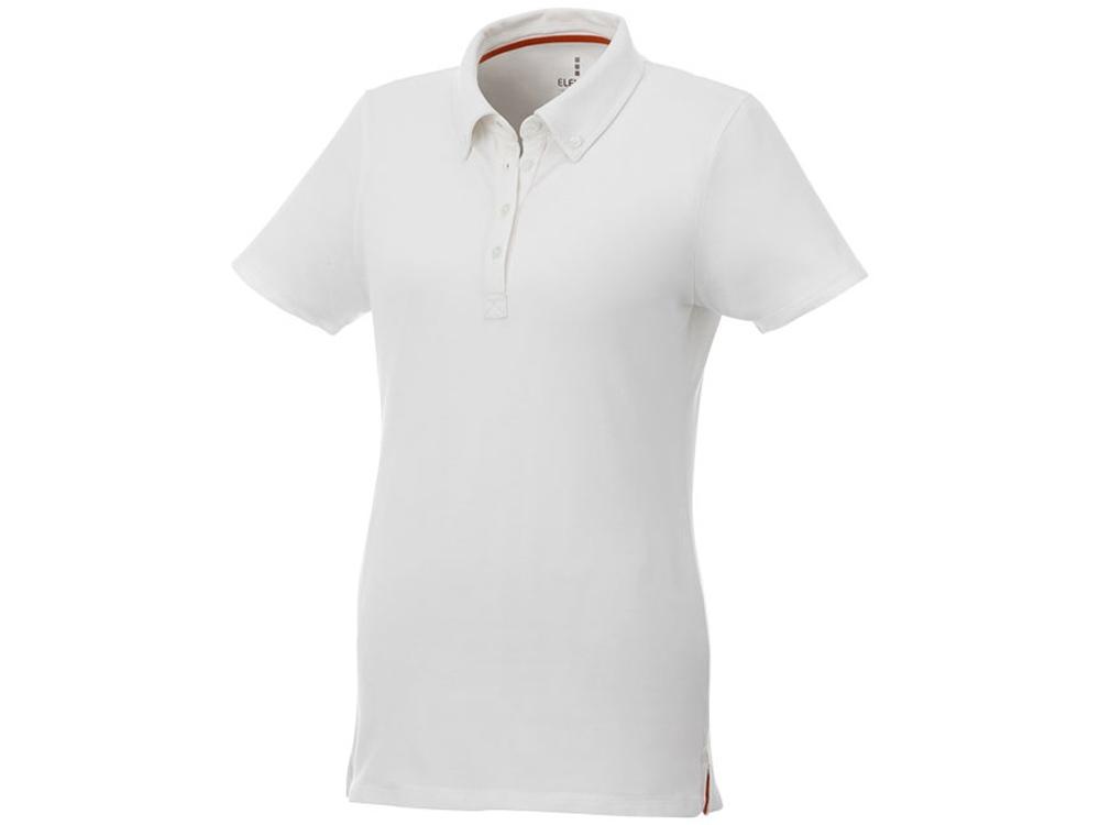 Женская футболка поло Atkinson с коротким рукавом и пуговицами, белый