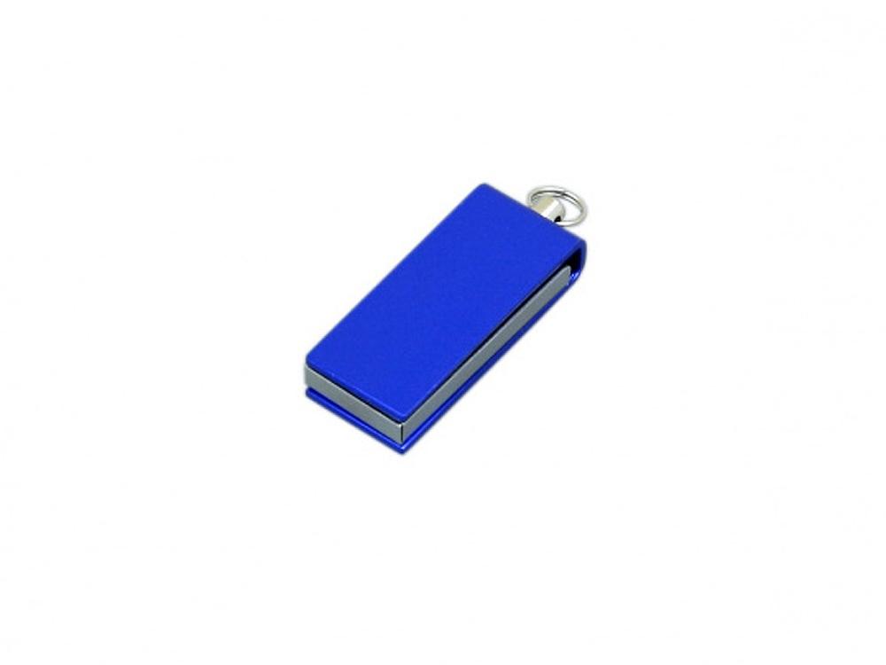 Флешка с мини чипом, минимальный размер, цветной  корпус, 64 Гб, синий